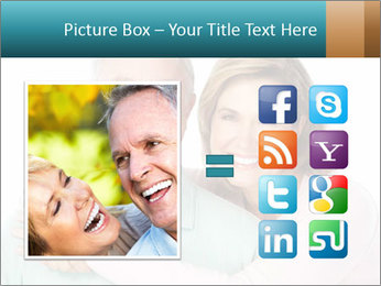 Happy senior couple in love PowerPoint Template - Slide 21