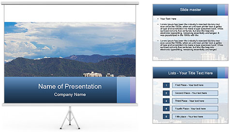 The beautiful tourist city of Cairns PowerPoint Template
