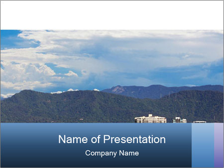 The beautiful tourist city of Cairns PowerPoint Templates