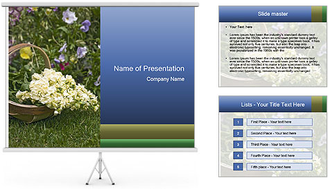 Freshly picked cream Matthiola Incana PowerPoint Template
