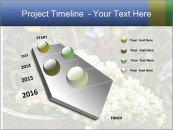 Freshly picked cream Matthiola Incana PowerPoint Templates - Slide 26