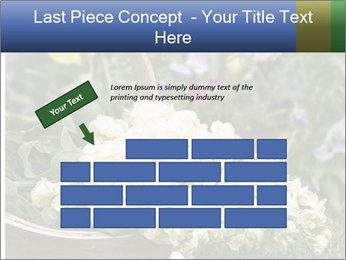 Freshly picked cream Matthiola Incana PowerPoint Template - Slide 46