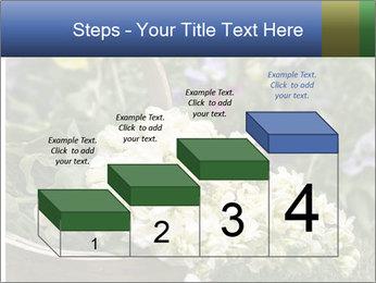 Freshly picked cream Matthiola Incana PowerPoint Template - Slide 64