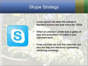 Freshly picked cream Matthiola Incana PowerPoint Template - Slide 8