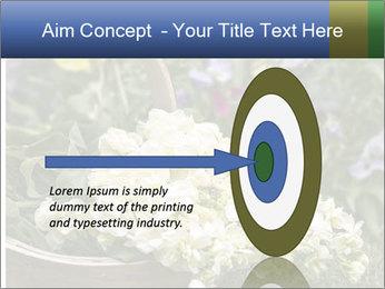 Freshly picked cream Matthiola Incana PowerPoint Template - Slide 83