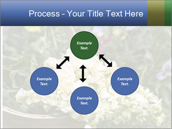 Freshly picked cream Matthiola Incana PowerPoint Template - Slide 91