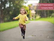 Happy Child Running PowerPoint Templates