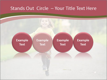 Happy Child Running PowerPoint Templates - Slide 76