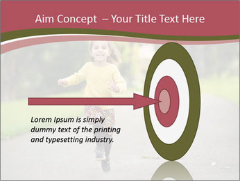Happy Child Running PowerPoint Templates - Slide 83