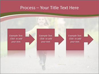 Happy Child Running PowerPoint Templates - Slide 88
