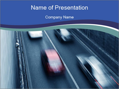 Traffic on a highway PowerPoint Templates