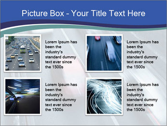 Traffic on a highway PowerPoint Templates - Slide 14