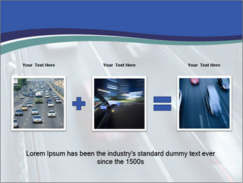 Traffic on a highway PowerPoint Templates - Slide 22