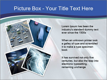 Traffic on a highway PowerPoint Templates - Slide 23