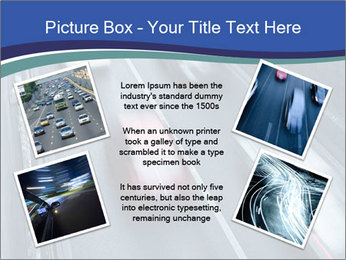 Traffic on a highway PowerPoint Templates - Slide 24