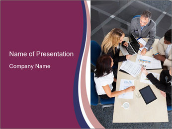 Businesspeople Discussing Together PowerPoint Templates - Slide 1
