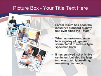Businesspeople Discussing Together PowerPoint Templates - Slide 17
