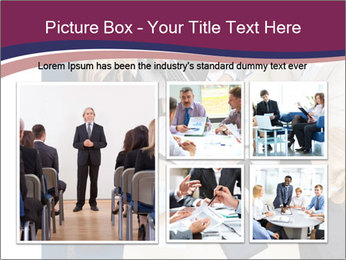 Businesspeople Discussing Together PowerPoint Templates - Slide 19