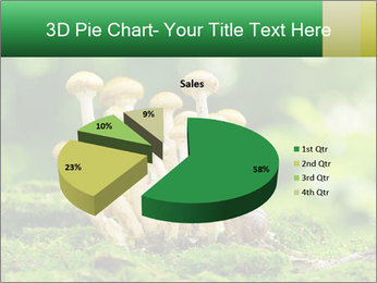 Mushrooms honey agaric in a forest PowerPoint Template - Slide 35