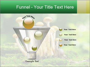 Mushrooms honey agaric in a forest PowerPoint Template - Slide 63