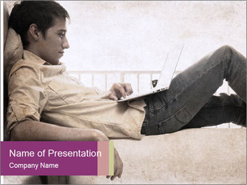 Artwork in grunge style PowerPoint Template