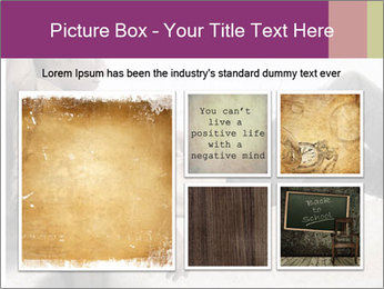 Artwork in grunge style PowerPoint Template - Slide 19