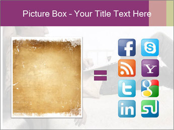 Artwork in grunge style PowerPoint Template - Slide 21