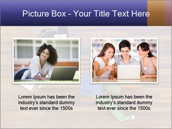 Top view of male and female university students PowerPoint Templates - Slide 18