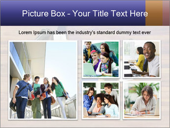 Top view of male and female university students PowerPoint Templates - Slide 19