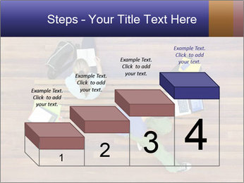 Top view of male and female university students PowerPoint Template - Slide 64