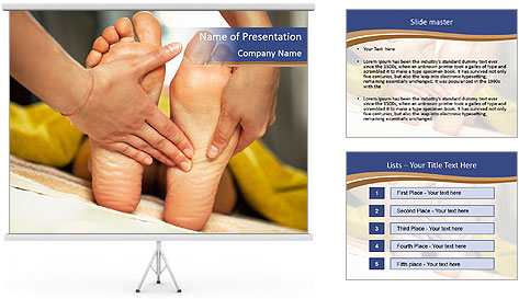 Foot massage for a woman PowerPoint Template