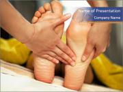 Foot massage for a woman PowerPoint Templates