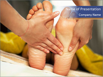 Foot massage for a woman PowerPoint Templates - Slide 1