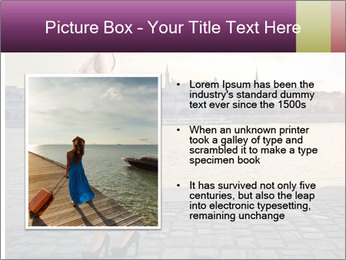 Beautiful tourist with vintage suitcase PowerPoint Template - Slide 13
