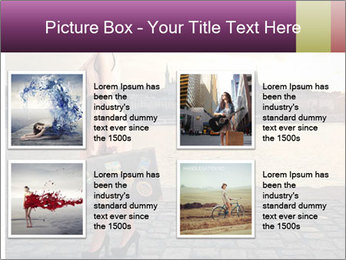Beautiful tourist with vintage suitcase PowerPoint Template - Slide 14