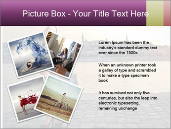 Beautiful tourist with vintage suitcase PowerPoint Template - Slide 23