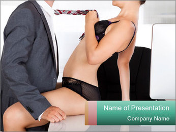 Couple having sex in office PowerPoint Template