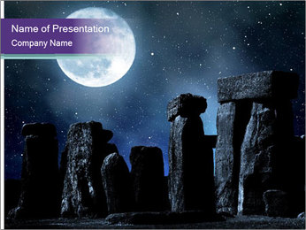 Historical monument PowerPoint Template - Slide 1