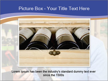 Man choosing the right wine PowerPoint Template - Slide 16