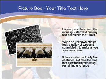 Man choosing the right wine PowerPoint Template - Slide 20