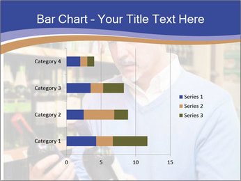 Man choosing the right wine PowerPoint Template - Slide 52