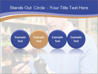 Man choosing the right wine PowerPoint Template - Slide 76