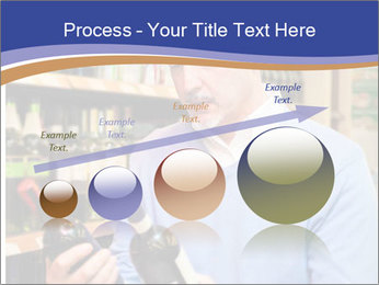 Man choosing the right wine PowerPoint Template - Slide 87