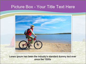 Happy family camping in mountains PowerPoint Template - Slide 15