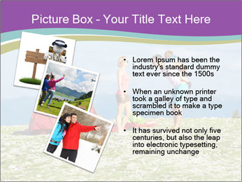 Happy family camping in mountains PowerPoint Template - Slide 17