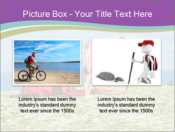 Happy family camping in mountains PowerPoint Template - Slide 18