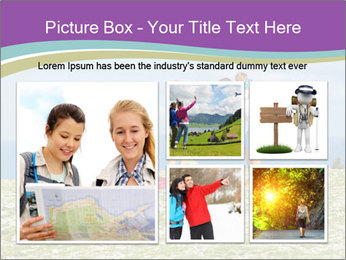 Happy family camping in mountains PowerPoint Template - Slide 19