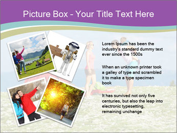 Happy family camping in mountains PowerPoint Template - Slide 23