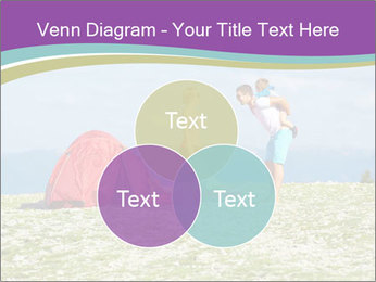 Happy family camping in mountains PowerPoint Template - Slide 33