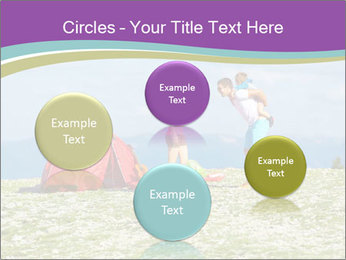 Happy family camping in mountains PowerPoint Template - Slide 77